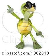 Clipart 3d Chuck Tortoise Wearing Sunglasses And Dancing 1 Royalty Free CGI Illustration