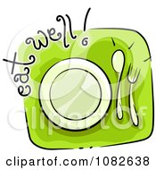 Clipart Eat Well Nutrition Blog Icon Royalty Free Vector Illustration