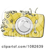 Clipart Enjoy Your Meal Nutrition Blog Icon Royalty Free Vector Illustration