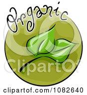 Clipart Organic Leaf Blog Icon Royalty Free Vector Illustration