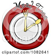Clipart Meal Time Nutrition Clock Blog Icon Royalty Free Vector Illustration
