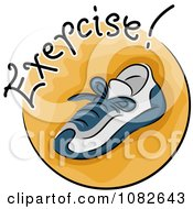 Clipart Exercise Sneaker Fitness Blog Icon Royalty Free Vector Illustration