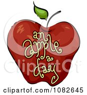 Clipart An Apple A Day Nutrition Blog Icon Royalty Free Vector Illustration