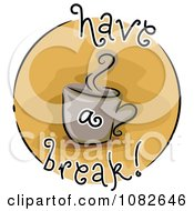 Clipart Have A Break Coffee Blog Icon Royalty Free Vector Illustration by BNP Design Studio