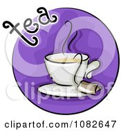 Clipart Tea Blog Icon Royalty Free Vector Illustration by BNP Design Studio