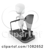 Clipart 3d Ivory Man Running On A Treadmill Royalty Free CGI Illustration by BNP Design Studio