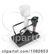 Clipart 3d Ivory Man Jogging On A Treadmill Royalty Free CGI Illustration by BNP Design Studio