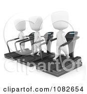 Clipart 3d Ivory Men Running On Treadmills Royalty Free CGI Illustration by BNP Design Studio