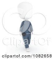 Clipart 3d Ivory Man Walking With A Pedometer Royalty Free CGI Illustration