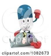 Clipart 3d Pill Character Standing Over A Knocked Out Virus Royalty Free CGI Illustration