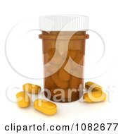 Clipart 3d Bottle Of Rx Pills Royalty Free CGI Illustration