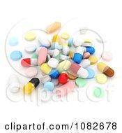 3d Pile Of Pills