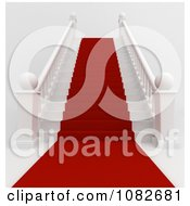 Clipart 3d Red Carpet Leading Up A Staircase Royalty Free CGI Illustration