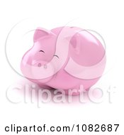 Clipart 3d Fat Piggy Bank Royalty Free CGI Illustration