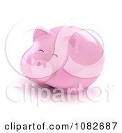 Clipart 3d Fat Piggy Bank Royalty Free CGI Illustration
