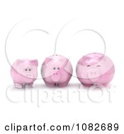 Clipart 3d Skinny To Fat Piggy Bank Royalty Free CGI Illustration