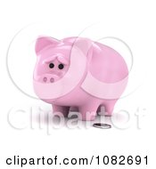 3d Sad Skinny Piggy Bank