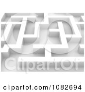 Clipart 3d White Maze Closeup Royalty Free CGI Illustration