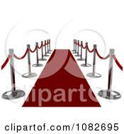 Clipart 3d Red Carpet And Poles 1 Royalty Free CGI Illustration by BNP Design Studio