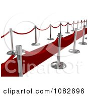 Clipart 3d Red Carpet And Poles 2 Royalty Free CGI Illustration by BNP Design Studio