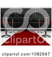 Clipart 3d Limo Parked At The End Of A Red Carpet Royalty Free CGI Illustration