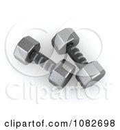 Clipart 3d Iron Dumbbells Royalty Free CGI Illustration