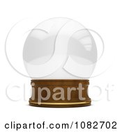 Clipart 3d Empty Snow Globe Royalty Free CGI Illustration by BNP Design Studio