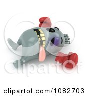 Clipart 3d Boxer Bacteria Knocked Out Royalty Free CGI Illustration