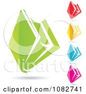 Clipart Colorful File Folder Icons Royalty Free Vector Illustration