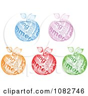 Clipart Colorful Sparkly Commerce Apples Royalty Free Vector Illustration by Andrei Marincas