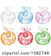 Clipart Colorful Sparkly Circle Apples Royalty Free Vector Illustration by Andrei Marincas