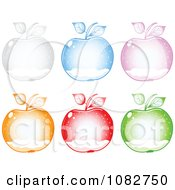Clipart Colorful Snow Globe Apples Royalty Free Vector Illustration by Andrei Marincas