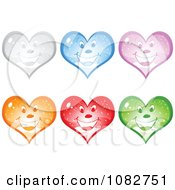 Clipart Colorful Happy Snow Globe Hearts Royalty Free Vector Illustration by Andrei Marincas