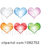 Colorful Snow Globe Hearts