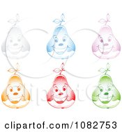 Clipart Colorful Happy Snow Globe Pears Royalty Free Vector Illustration by Andrei Marincas
