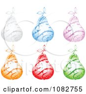 Clipart Colorful Sparkly Swirl Pears Royalty Free Vector Illustration by Andrei Marincas