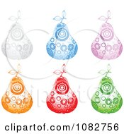 Clipart Colorful Sparkly Circle Pears Royalty Free Vector Illustration by Andrei Marincas