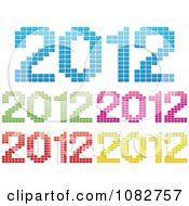 Clipart Colorful 2012 New Year Icons Royalty Free Vector Illustration by Andrei Marincas