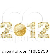 Clipart Golden New Year Bauble In 2012 Royalty Free Vector Illustration by Andrei Marincas