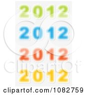 Clipart Colorful Blurry 2012 New Year Icons Royalty Free Vector Illustration by Andrei Marincas