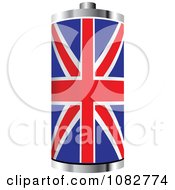 Clipart 3d UK Flag Battery Royalty Free Vector Illustration
