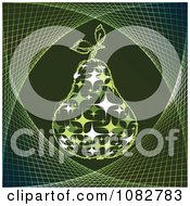 Clipart Green Sparkle Pear Background Royalty Free Vector Illustration by Andrei Marincas