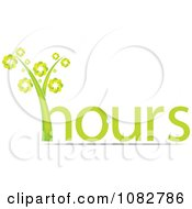 Clipart Green Hours Plant Royalty Free Vector Illustration by Andrei Marincas