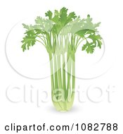 Clipart 3d Bunch Of Celery Royalty Free Vector Illustration
