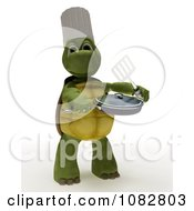Clipart 3d Chef Tortoise Cooking Royalty Free CGI Illustration by KJ Pargeter