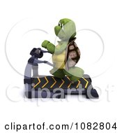 Clipart 3d Tortoise Running On A Treadmill Royalty Free CGI Illustration by KJ Pargeter