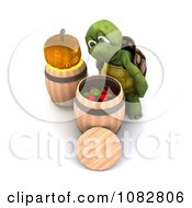 3d Tortoise Bobbing For Apples