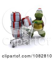 3d Christmas Tortoise Shopping For Gifts