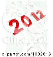 Clipart 3d 2012 In White Years Royalty Free CGI Illustration