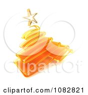 Clipart 3d Orange Scribble Glass Christmas Tree Royalty Free CGI Illustration by KJ Pargeter